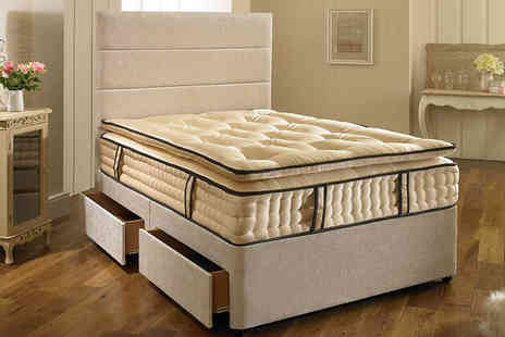 Giomani Designs - Single, small double or double, king or super king size Superior 2000 fabric divan bed - Save 68%