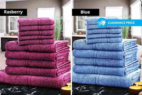 Fusion Homeware - 10 piece towel bundle choose from eight colours - Save 87%