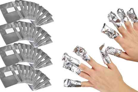 Groupon Goods Global GmbH - 100, 200 or 400 Gel Nail Removal Foil Wraps - Save 77%