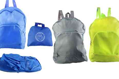 Groupon Goods Global GmbH - One or Two Foldable Water Resistant Backpacks - Save 80%