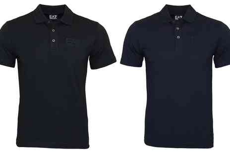 Groupon Goods Global GmbH - Emporio Armani EA7 Mens Short Sleeved Cotton Polo With Free Delivery - Save 20%