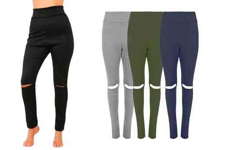 Groupon Goods Global GmbH - Be Jealous High Waisted Knee Cut Leggings - Save 68%