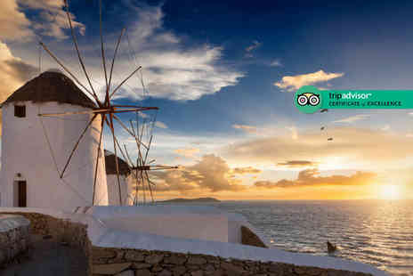iFly Holidays - Three, five or seven night Mykonos, Greece stay with breakfast, airport transfers and return from flights - Save 23%