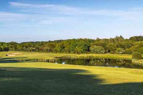 The Blackwood Golf Centre - 18 holes of golf with a hot drink for two - Save 47%