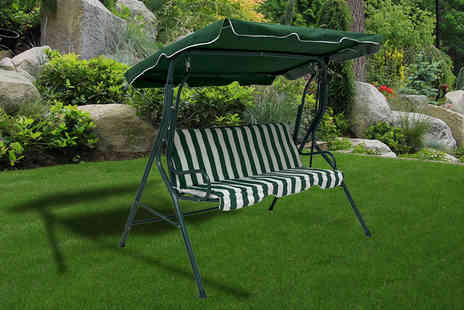 Who Needs Shops - Three seater garden swing bench get relaxing in the garden - Save 66%