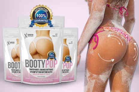 Better Body - Two, four or six month supply of Booty Pop bum enlargement supplements - Save 70%