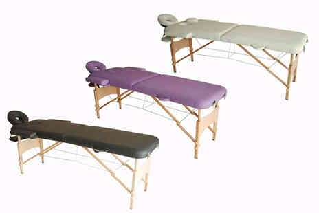 Aosom - Two section portable folding massage table choose from three colours - Save 59%