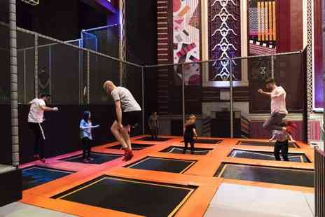 ZAPspace Trampoline Park - One hour freestyle jump session for two - Save 50%