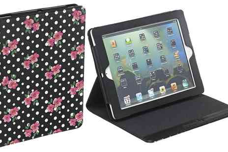 Groupon Goods Global GmbH - Accessorize Polka Dot Floral Hands Free Folding Folio Case for iPad 2/3/4 - Save 75%