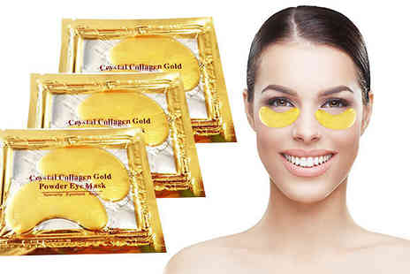 Forever Cosmetics - Gold Crystal Collagen Eye Masks 20 Pairs - Save 77%