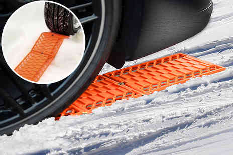 Black Feather - Two Tredlox car tyre snow traction tracks - Save 67%