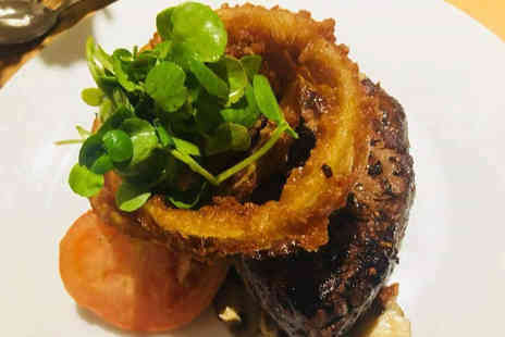 The Office Steakhouse and Bar - 8oz rump steak dining for two with a glass of wine each - Save 20%
