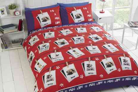 Groupon Goods Global GmbH - Rapport Home Pawsome Reversible Duvet Cover Set in Choice of Design - Save 88%