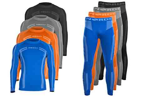Groupon Goods Global GmbH - One or Two Sets of Mens Thermal Winter Sports Underwear - Save 72%