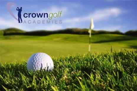 Crown Golf Academy - One Hour Golf Lesson With PGA Professional Plus Use of Nine Hole Practice Facilities - Save 69%