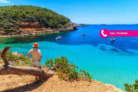 Super Escapes Travel - Three, five or seven night all inclusive Ibiza, Spain beach break with flights - Save 42%