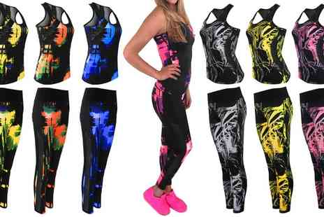 Groupon Goods Global GmbH - Womens Active Leggings and Matching Top in a Choice of Colour and Design - Save 0%