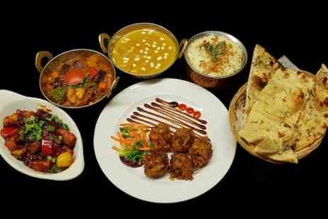 Golden Ambal - Two Course Indian Meal with Side to Share for Two or Four - Save 47%