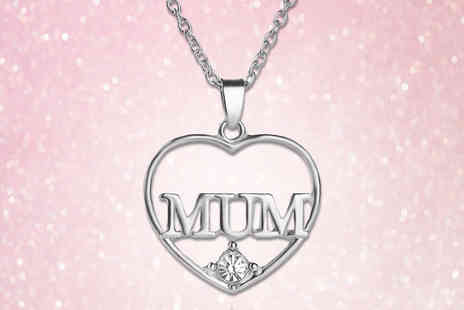 Your Ideal Gift - Mum crystal heart pendant - Save 79%