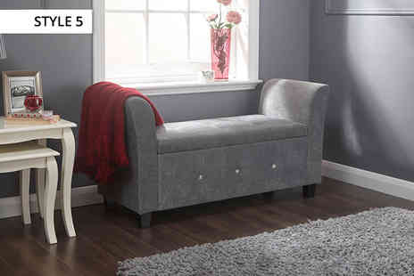 Panoply Furnishings - Range of fabric and faux leather ottomans - Save 50%
