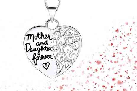 Solo Act - Mother & daughter  forever heart necklace - Save 76%