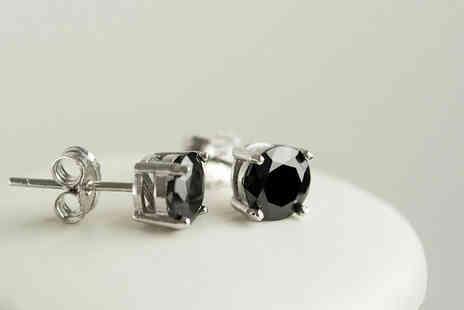 Evoked Design - Pair of black sapphire earrings - Save 90%