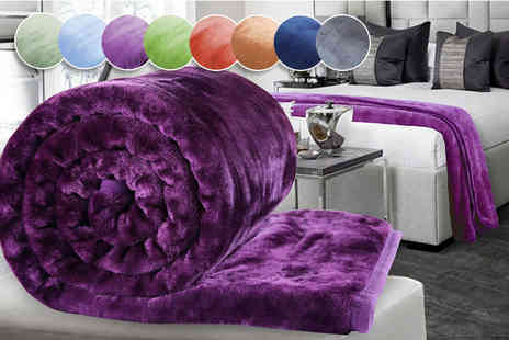Groundlevel - Extra large luxury supersoft faux mink throw choose from eight colours - Save 72%