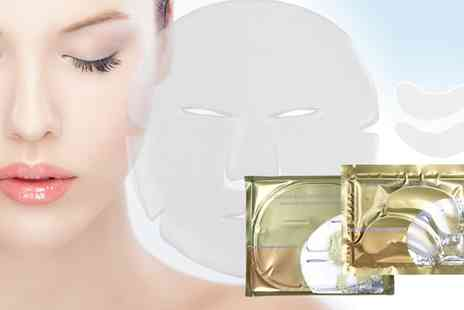 Groupon Goods Global GmbH - Hyaluronic Collagen Face and Eye Masks - Save 77%