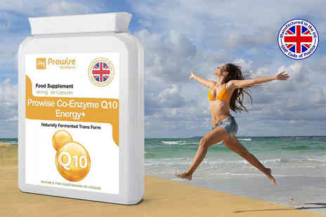 Prowise Healthcare - Three month supply of Co Enzyme Q10 Energy Plus capsules - Save 63%