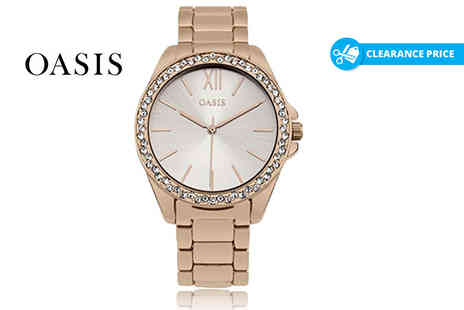 Deals Direct - Ladies rose gold Oasis watch - Save 27%