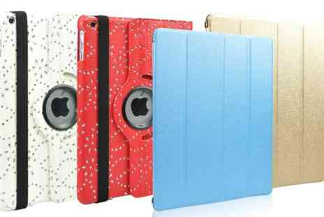 Groupon Goods Global GmbH - Diamante Rotating or Metallic Panel Case for iPad - Save 83%