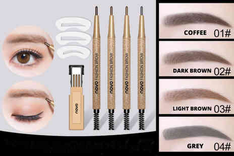 Hua Yuan International Trading - Two in One waterproof eyebrow pencil And brush set or two sets - Save 82%