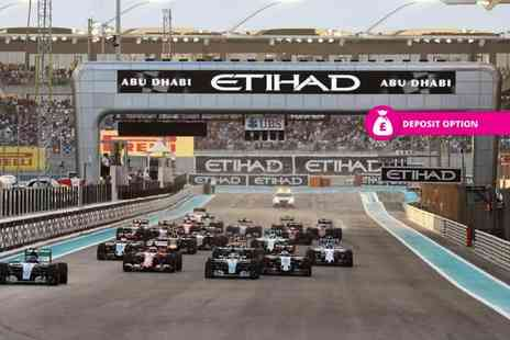 World Choice Sports - Four nights, Abu Dhabi stay with full weekend Marina Grandstand tickets to the Formula 1 Grand Prix and flights - Save 0%