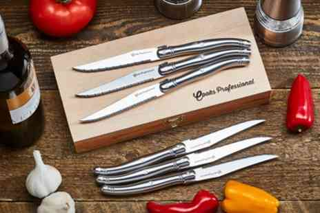 Groupon Goods Global GmbH - Cooks Professional Laguiole Style Steak Knife and Fork Sets - Save 74%