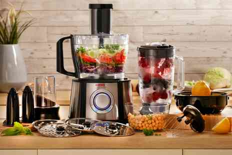 Groupon Goods Global GmbH - Cooks Professional Multifunctional 1100W Food Processor With Free Delivery - Save 50%