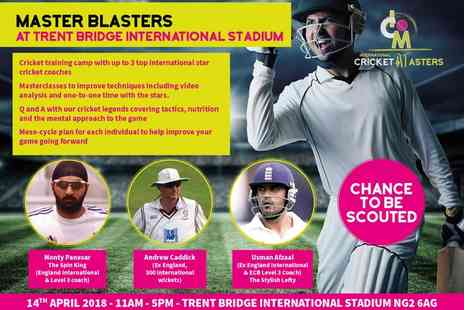 International Cricket Masters - Half Day or Full Day Master Blaster Course on 2 April in Stoke on Trent or 14 April in Nottinghamshire - Save 51%
