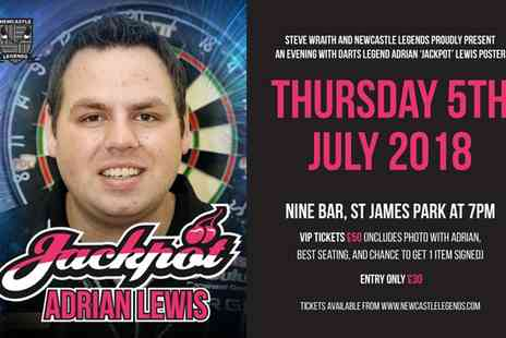 Newcastle Legends - One ticket to An Evening with Adrian Lewis On 5 July - Save 47%