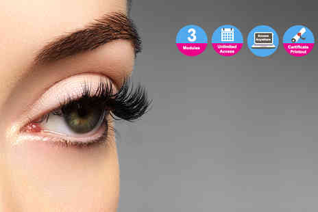Online Beauty Training - Eyelash perming diploma - Save 85%