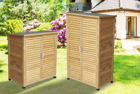 Garden & Camping - Small or tall wooden storage shed - Save 57%