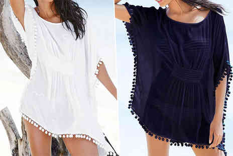 Treats on Trend - Pom pom kaftan choose from two colours - Save 77%