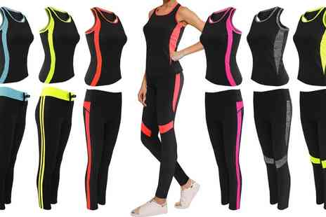Groupon Goods Global GmbH - Womens Vest Top and Leggings Set - Save 0%