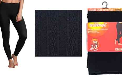 Groupon Goods Global GmbH - One or Two Pairs of Womens Thermal Fleece Leggings - Save 0%
