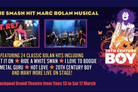 20th Century Boy - Ticket to 20th Century Boy on 13 to 17 March - Save 0%