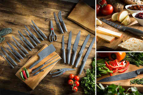 Deals Direct - Tower 24 piece stone coated knife set - Save 41%
