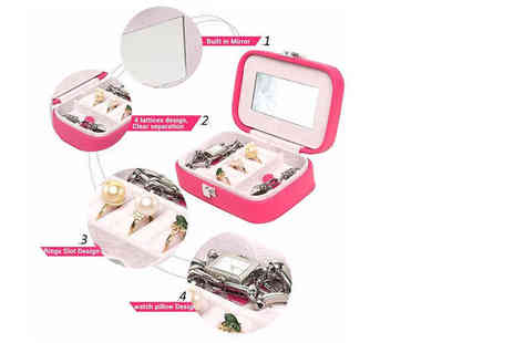 London Exchain Store - Jewellery organiser box choose from four colours - Save 70%