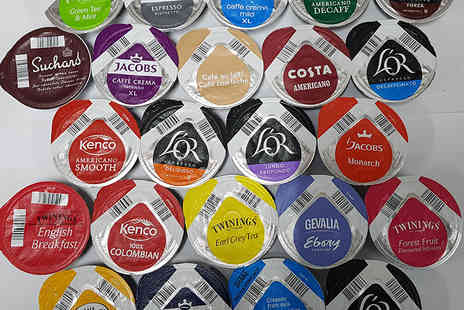 Euro Coffee Pods - Pack of 23 Tassimo T discs in assorted flavours - Save 77%