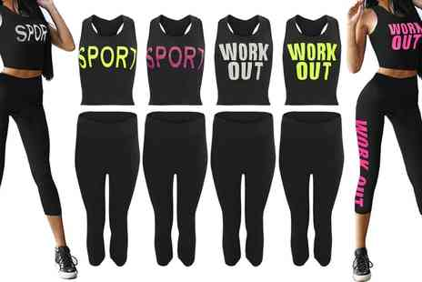 Groupon Goods Global GmbH - Work Out Top and Leggings Set  - Save 0%
