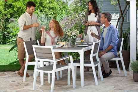 Home Decoration & Fashion - Keter Harmony six seater outdoor dining set - Save 57%