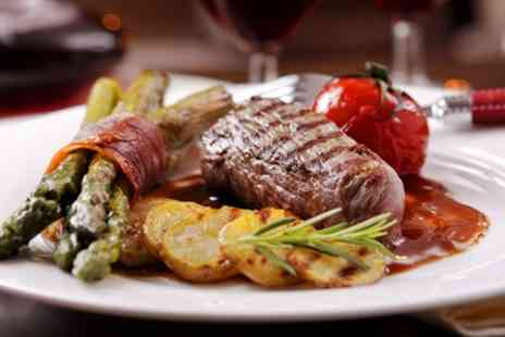 Esca - Sirloin Steak with Glass of Wine or Bottle of Beer for Two or Four - Save 51%