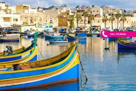 Super Escapes Travel - Three, five or seven night self catered Malta stay in a standard apartment with flights - Save 62%